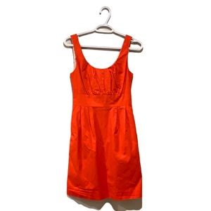 "J. Crew ""Suited"" Orange Dress - Women's Size 0"